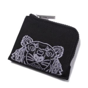 89d4417af116 KENZO(ケンゾー)ナイロンジップウォレット コンパクト財布 タイガーウォレット 刺繍 ブラック