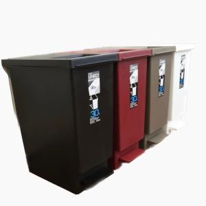 プッシュ&ペダル ダストボックス UNEED ユニード 30L ゴミ箱 ごみ箱 おしゃれ 新生活 2way ふた付き シンプル ワンタッチ|coolzon