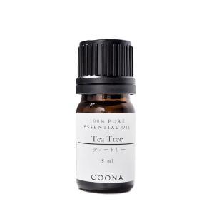 ティートリー 5 ml エッセンシャルオイル アロマオイル 精油 メール便可|coona