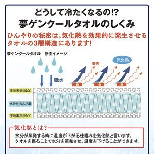 夢ゲンクール 冷感タオル ブルー ピンク グレ...の詳細画像4