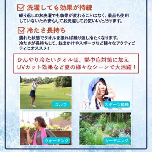 夢ゲンクール 冷感タオル ブルー ピンク グレ...の詳細画像5