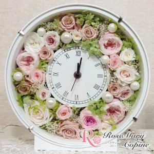 母の日 ギフト プリザーブドフラワー 花時計 時計 結婚祝い...