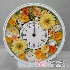 結婚祝い プリザーブドフラワー ギフト プレゼント 花時計 fc-016
