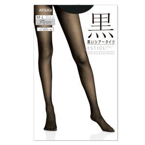 シアー タイツ 25デニール ATSUGI ASTIGU アツギ 黒 S-M/M-L/L-LL レディース 婦人 日本製 ゆうパケット25%|copo-socks