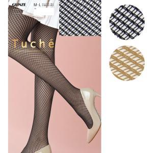 ストッキング パンスト ダブルネット GUNZE Tuche グンゼ M-L レディース 婦人 日本製 網タイツ ゆうパケット25%|copo-socks