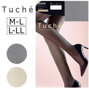 ストッキング パンスト シャイニーメッシュ GUNZE Tuche 上品な輝き M-L/L-LL 日本製 レディース 婦人 パーティー ゆうパケット25%|copo-socks