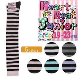 キッズ ニーハイ ソックス 靴下 子供 ジュニア ボーダー マカロンカラー 19-23cm ゆうパケット25%|copo-socks