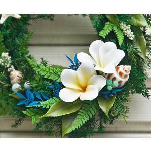 母の日 ギフト プレゼント  プルメリア プリザーブドフラワー ハワイアン リース Frangipani M-size|coppecraft