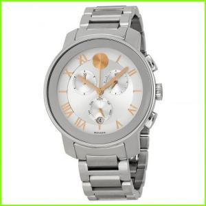 Bold Chronograph Silver Dial 日本メーカー新品 Stainless Steel メンズ Unisex MEN モバード Watch 期間限定今なら送料無料