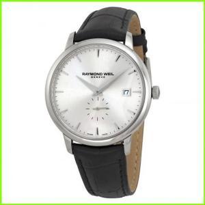 期間限定特価品 オーバーのアイテム取扱☆ Toccata Silver Dial Black Leather Men's MEN メンズ Watch レイモンド ウィル