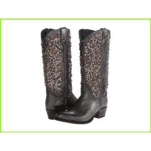 Frye 安心の定価販売 Deborah Studded Tall フライ Boots Anthracite Vintage Leather 格安 Glazed WOMEN レディース