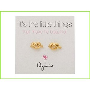 <title>Dogeared Little Things Simple Knot Studs ドギャード Stud Earrings 公式ストア WOMEN レディース Gold</title>