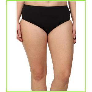 <title>BECCA by Rebecca Virtue Plus Size Becca ETC Solid Full Bottom ベッカ Swimsuit Bottoms WOMEN 人気 レディース Black</title>