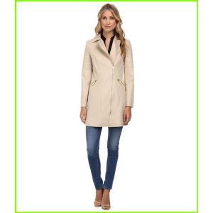 通販 人気ブランド Ted Baker Faluk Quilted Sleeve Zip Coat レディース Taupe Outerwear amp; WOMEN Coats