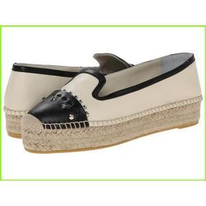 セール特価品 Alexander McQueen Two-Tone Espadrille 安い アレキサンダーマクイーン Loafers White Black Silk WOMEN レディース