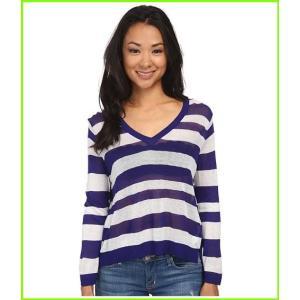 <title>人気ブレゼント! kensie Sheer Sweater KS4K5741 ケンジー Sweaters WOMEN レディース Imperial Purple Combo</title>