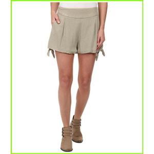 <title>Free People Rayon Geometic Jacquard Solid Tie Short フリーピープル Shorts WOMEN レディース Light 人気商品 Olive</title>