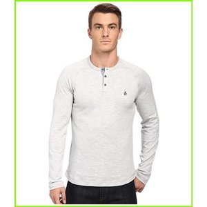 <title>Original Penguin Flecked 返品交換不可 CVC Slub Henley T Shirts MEN メンズ Griffin</title>