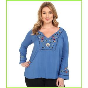 <title>Roper Plus いよいよ人気ブランド Size 0019 Solid Rayon Peasant Blouse Blouses WOMEN レディース Blue</title>