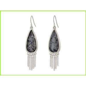<title>登場大人気アイテム The Sak Stone Fringe Teardrop Earrings Drop WOMEN レディース Grey</title>