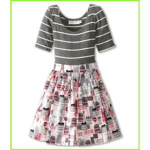 fiveloaves 激安通販 twofish Grand Tour Abbie Dress Little Kids 新作多数 Grey WOMEN Dresses レディース Big Pink
