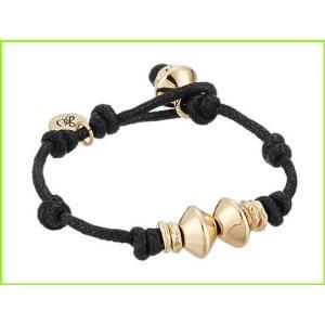 <title>Sam Edelman Knotted Bead Bracelet サム エデルマン Link Bracelets WOMEN レディース Black Gold 新作 大人気</title>