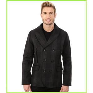 定番スタイル Robert Graham O'Connor Peacoat Woven Outerwear メンズ MEN Charcoal 海外 Coats amp;