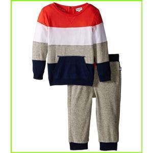 Splendid Littles Stripe Long Sleeve Terry Pants Set メンズ Kids' MEN Orange Sets Infant セール特別価格 高い素材