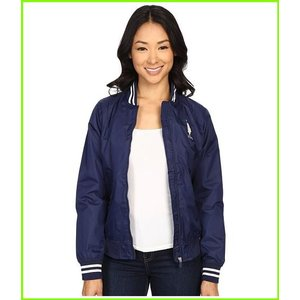U.S. 今季も再入荷 POLO 『4年保証』 ASSN. Solid Jacket with Stripe Collar WOMEN Coats Outerwear Tribal レディース Navy amp;