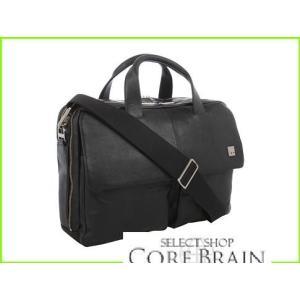 お得なキャンペーンを実施中 KNOMO London 高品質 Warwick Double Compartment Laptop Black Bags Briefcase レディース WOMEN