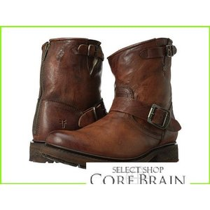 Frye 並行輸入品 Valerie 6 おトク フライ Boots WOMEN Shearling Soft Antique Cognac Vintage レディース