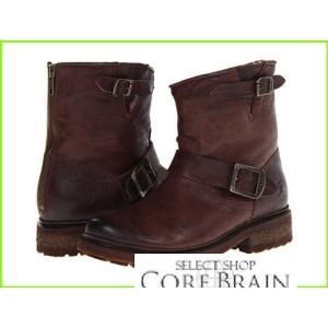 Frye Valerie 返品交換不可 6 フライ Boots 別倉庫からの配送 WOMEN レディース Soft Dark Antique Vintage Shearling Brown