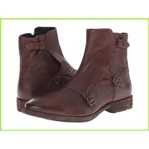 Frye Ethan Triple Monk フライ Boots Leather Buffalo 激安特価品 Brown 国際ブランド メンズ MEN Dark