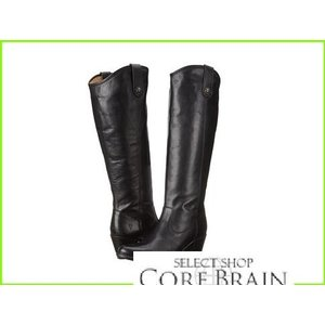 Frye Jackie Button Extended 最新アイテム フライ 新品 Boots Vintage WOMEN Smooth Leather Black レディース