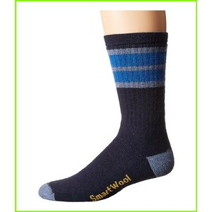 Smartwool Striped Hike Medium Crew Socks Blue MEN 迅速な対応で商品をお届け致します Bright 買収 メンズ Navy