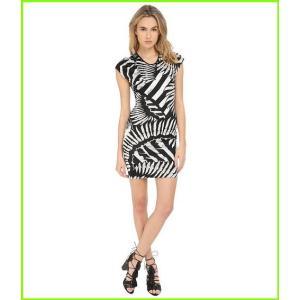 公式ストア 卸直営 Just Cavalli Kraken Print Cap Sleeve Cocktail ジャストカヴァッリ レディース Dress WOMEN Dresses White
