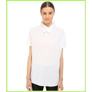 Y's by Yohji 爆安 Yamamoto Collar Knit 毎日激安特売で 営業中です Tee レディース ヨウジヤマモト WOMEN White Shirts T