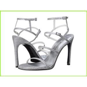 Stuart Weitzman Bridal amp; Evening Collection Courtesan 迅速な対応で商品をお届け致します WOMEN レディース ステュワート Noir Silver ワイツマン Sandals 日本最大級の品揃え