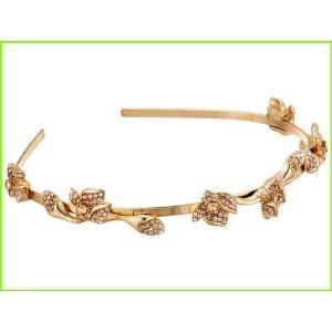 Oscar de la Renta Gradient Crystal Flower Headband Bands 本日の目玉 レディース Head Gold WOMEN Cry Shadow オスカーデラレンタ チープ