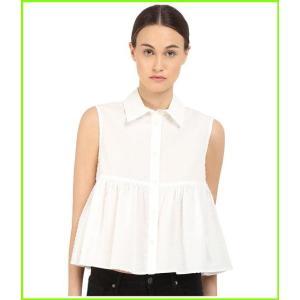 McQ Cropped 推奨 SALENEW大人気 Shirt マックキュー Ivory レディース WOMEN Blouses