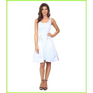 Halston Heritage Sleeveless Round Neck Satin 期間限定特価品 即納送料無料 Faille Dress Breeze Dresses Overlay レディース with Skirt WOMEN