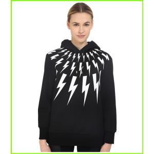 Neil Barrett Thunderbolt Printed セール特価品 Hoodie Sweatshirt 付与 ニールバレット Black amp; Sweatshirts White レディース WOMEN Hoodies