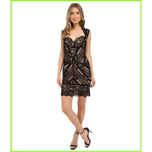 Nicole Miller Sweetheart Eva Lace ニコール レディース Nude Black ミラー [並行輸入品] WOMEN Dresses お値打ち価格で