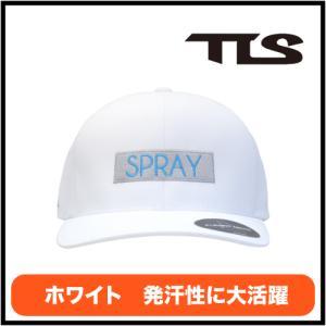 サーフキャップ 日焼け防止ハット キャップ 帽子  サーフィン マリンスポーツ ホワイト|TLS SPRAY CAP FLEXFIT DELTA WHITE|coresurf