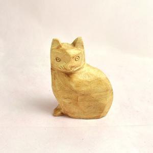 パロサント インカネコ(カービング) 天然香木 木彫り ねこ|cornucopia