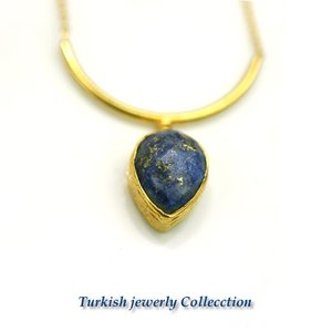 ターキッシュラピスラズリネックレス2/ラピスラズリパワーストーン 天然石|cornucopia