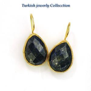 ターキッシュラピスピアス1/ラピスラズリ パワーストーン 天然石|cornucopia