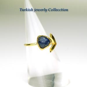 【売り尽くし半額セール】ラピスラズリ ターキッシュラピスラズリリング1 指輪フリーサイズ パワーストーン 12月誕生石 天然石|cornucopia