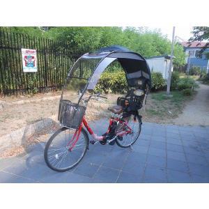 チャイルドシート、電動アシスト自転車 子供乗せ、紺色屋根生地...