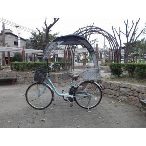 電動自転車、子供のせ等に風よけ、雨除け日よけ屋根(電動用、2重)ニューギャラG|coropokkuru|05